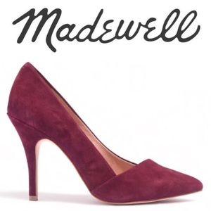Madewell Mira Plum Wine Heels